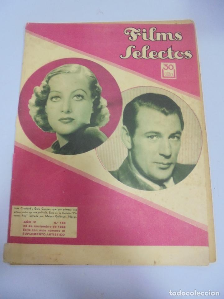 REVISTA CINE. FILMS SELECTOS. Nº 163. 25 NOVIEMBRE 1933. PROBLEMAS INTERPRETES, NORMAN FOSTER (Cine - Revistas - Films selectos)