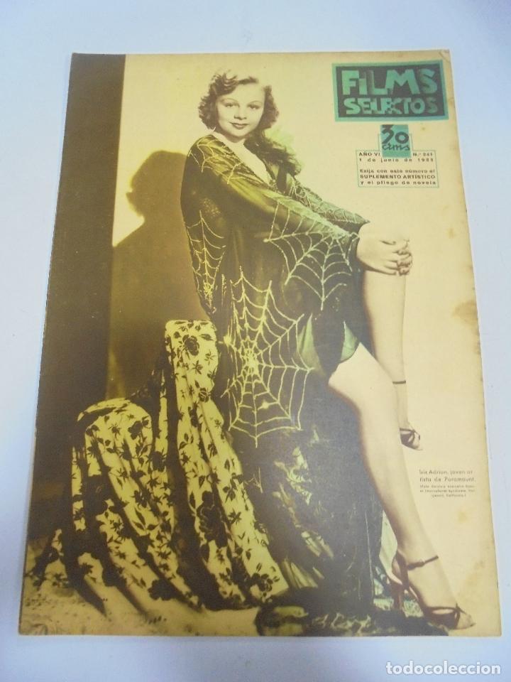 REVISTA CINE. FILMS SELECTOS. Nº 241. JUNIO 1935. IRIS ADRIAN, REALIZADORES, FORMULA DE BELLEZA (Cine - Revistas - Films selectos)