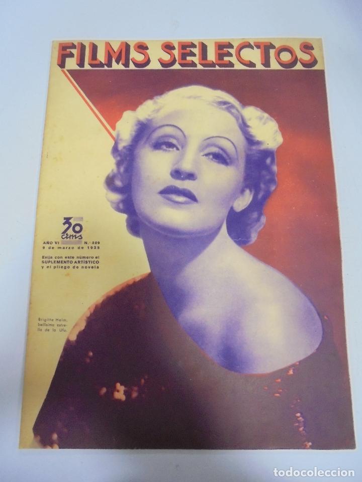 REVISTA CINE. FILMS SELECTOS. Nº 229. MARZO 1935. BRIGITTE HELM, CINE ACTUAL, MAILLOT DE SALON (Cine - Revistas - Films selectos)