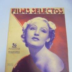 Cine: REVISTA CINE. FILMS SELECTOS. Nº 229. MARZO 1935. BRIGITTE HELM, CINE ACTUAL, MAILLOT DE SALON. Lote 116405411