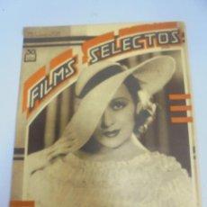 Cine: REVISTA CINE. FILMS SELECTOS. Nº 208. FRANCES DRAKE, METAMORFOSIS DE SYLVIA SIDNEY, PEQUEÑO REY. Lote 116405443
