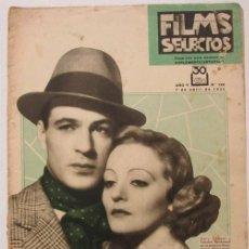 Cine: FILMS SELECTOS Nº 182 1934. JOAN CRAWFORD, FRANCHOT TONE, CATALINA BARCENA. LA MUJER EN EL CINE. Lote 116409775