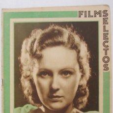 Cine: FILMS SELECTOS 139 1933 EL BESO EN EL CINE, WILLIAM POWELL, MUJERES DE CHAPLIN, ROSITA DIAZ, DISNEY. Lote 116410059