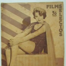 Cine: FILMS SELECTOS 226 1935 WALT DISNEY. DOLORES DEL RIO, GEORGE RAFT, LUPITA TOVAR, MARUCHI FRESNO. Lote 116410827