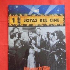 Cine: JOYAS DEL CINE, NÚM. 1, QUE BELLO ES VIVIR JAMES STEWART, REVISTA 24 PÁGINAS, IMPECABLE.. Lote 116466491