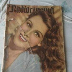 Cine: RADIOCINEMA NÚMERO 83 (AÑO IV) PORTADA: FRANCES DEE (30 DE DICIEMBRE DE 1942). Lote 116574767