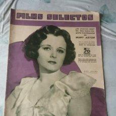 Cine: FILMS SELECTOS. NÚMERO 239 (AÑO VI) PORTADA MARY ASTOR (18 DE MAYO DE 1935). Lote 116655619