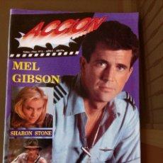 Cine: REVISTA DE ACCION VIDEO CINE N 3 - AÑOS 90 -INCLUYE POSTER MEL GIBSON . Lote 116671587