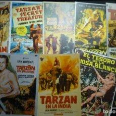 Cinema: LOTE REPRODUCC.CARTELES EN FOTO Y PAPEL PELICULAS TARZAN. Lote 116800143