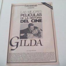 Cine: GILDA LAS MEJORES PELICULAS DE LA HISTORIA DEL CINE COLECCIONABLE REVISTA FOTOGRAMAS. Lote 117013267