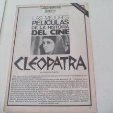 Cine: CLEOPATRA LAS MEJORES PELICULAS DE LA HISTORIA DEL CINE COLECCIONABLE REVISTA FOTOGRAMAS. Lote 117014591