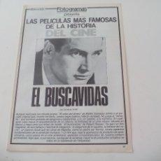 Cine: EL BUSCAVIDAS MEJORES PELICULAS DE LA HISTORIA DEL CINE COLECCIONABLE REVISTA FOTOGRAMAS. Lote 117015023