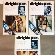 Cine: LOTE 3 REVISTAS DIRIGIDO POR ... PIER PAOLO PASOLINI, LUIS BUÑUEL FRANÇOIS TRUFFAUT. 1975.. Lote 117355271