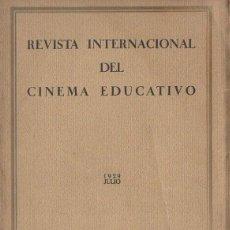 Cine: REVISTA INTERNACIONAL DEL CINEMA EDUCATIVO AÑO I Nº 1 (SOCIEDAD DE NACIONES, 1929). Lote 117384807
