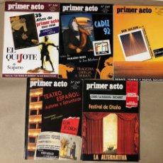 Cine: REVISTA PRIMER ACTO, N° 244, 245, 246, 247 Y 251. AÑOS 1992/93.. Lote 117519555