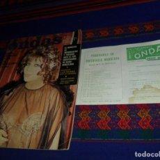 Cine: ONDAS Nº 514 CON SUPLEMENTO PROGRAMAS RADIO MADRID. MAYO 1974. SARA MONTIEL OMAR SHARIFF KISSINGER.. Lote 117536203