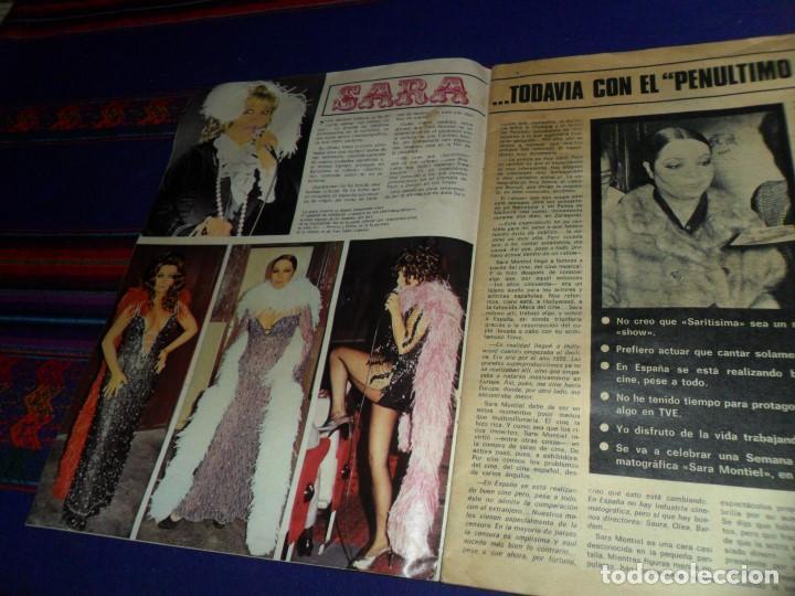Cine: ONDAS Nº 514 CON SUPLEMENTO PROGRAMAS RADIO MADRID. MAYO 1974. SARA MONTIEL OMAR SHARIFF KISSINGER. - Foto 2 - 117536203