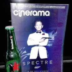 Cine: SPECTRE-REVISTA ESTRENO DE LA PELICULA EL 6 /11/2015 MAS BOTELLA HEINEKEN EXCLUSIVA. Lote 117596331