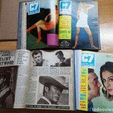 Cine: CINE EN 7 DIAS-TRES TOMOS AÑO 1969- REVISTAS DEL Nº404 AL Nº455.VER FOTOS .C7.51 REVISTAS. Lote 118567395