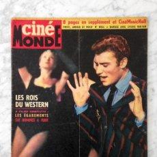 Cine: CINE MONDE - 1963 - JOHNNY HALLYDAY, LOS REYES DEL WESTERN, JANE MANSFIELD, JOSELITO, SYLVIE VARTAN. Lote 118619943