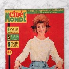 Cine: CINE MONDE - 1963 - SHEILA, JAMES DEAN, AL ESTE DEL EDEN, SOFIA LOREN, MURIEL, SINATRA, VIC LAURENS. Lote 118620527