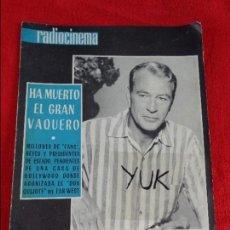 Cine: MUERTE DE GARY COOPER - SOFIA LOREN - CANNES ---- RADIOCINEMA 1961 --- Nº 468. Lote 118649027