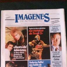 Cine: IMAGENES DE ACTUALIDAD Nº 34-1986-DAVID BOWIE-ANA BELEN-LINA MORGAN-LA MATANZA DE TEXAS. Lote 125184520
