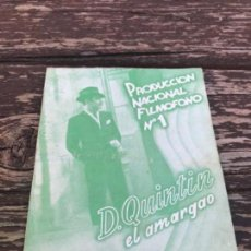 Cine: PRODUCCION NACIONAL FILMOFONO, N-1,. Lote 119103051