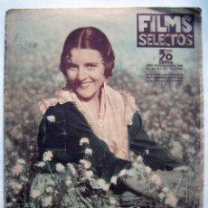 Cine: IMPERIO ARGENTINA. REVISTA FILMS SELECTOS. 1936. . Lote 119122915