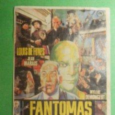Cine: RECREACION - FOLLETO - PELÍCULA - FILM - FANTOMAS VUELVE. Lote 121362006