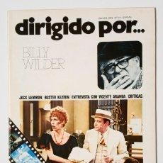 Cine: DIRIGIDO POR... Nº 21 (MARZO 1975) BILLY WILDER. Lote 119460347