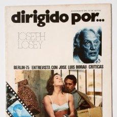 Cine: DIRIGIDO POR... Nº 25 (JULIO/AGOSTO 1975) JOSEPH LOSEY. Lote 119461059