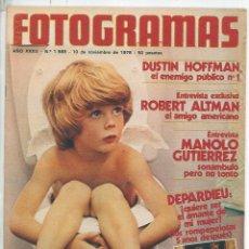 Cine: REVISTA FOTOGRAMAS NÚMERO 1569 DEL 10 DE NOVIEMBRE DE 1978 LOLO GARCIA DEPARDIEU. Lote 119744203