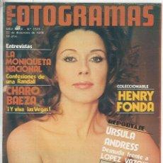 Cine: REVISTA FOTOGRAMAS NÚMERO 1575 DEL 22 DE DICIEMBRE DE 1978 MONICA RANDALL URSULA ANDRESS LOPEZ VAZQU. Lote 119744551