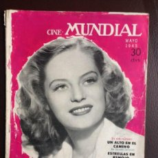 Cinema: ALEXIS SMITH EN LA PORTADA CINE MUNDIAL. MAYO 1945. Lote 120568755