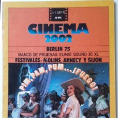 Cinema: CINEMA 2002 Nº 7 SEPTIEMBRE 1975. Lote 190848442