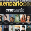 Cine: CALENDARIO 2001, CINEMANÍA.. Lote 121162763