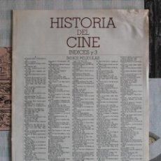 Cine: LA GRAN HISTORIA DEL CINE - TERENCI MOIX - ÍNDICES. Lote 121899967