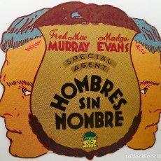 Cine: HOMBRES SIN NOMBRE- TROQUELADO- NO ES UN FOLLETO ORIGINAL- ES UN FACSIMIL. Lote 122002031