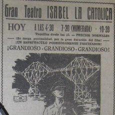 Cine: EL PUENTE SOBRE EL RIO KWAY, WILLIAM HOLDEN. CINEMASCOPE.. Lote 122068223