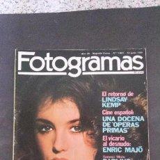 Cine: FOTOGRAMAS 1661-1981-ISABELLE ADJANI HUPPERT-AUDREY HEPBURN-ALMODOVAR-ENRIC MAJÓ-LOLITA FLORES . Lote 122076427
