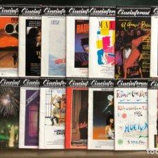Cine: CINEINFORME, REVISTA CINEMATOGRÁFICA ESPAÑOLA AÑO 1986. 18 REVISTAS (AÑO COMPLETO). . Lote 122115263