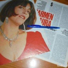 Cine: RECORTE PRENSA : ENTREVISTA A CARMEN MAURA . FOTOGRAMAS, JUNIO 1987. Lote 122205735