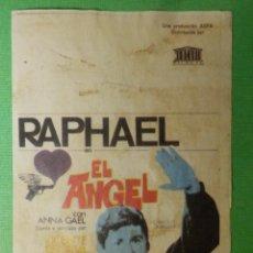 Cine: REPRODUCCIÓN - FOLLETO - CINE - PELÍCULA - FILM - LARGOMETRAJE - RAPHAEL EL ANGEL . Lote 122314611