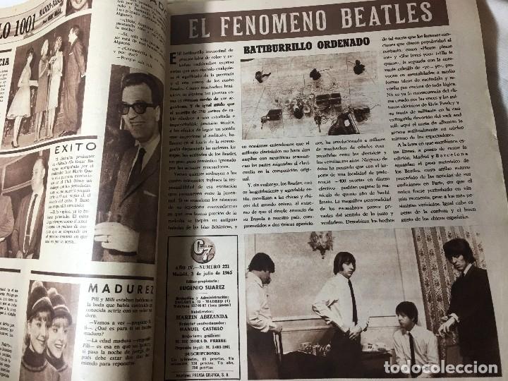 Cine: RA4 ANTIGUA REVISTA CINE EN 7 DIAS 221 año 1965 llegaron los Beatles - Foto 3 - 122451639