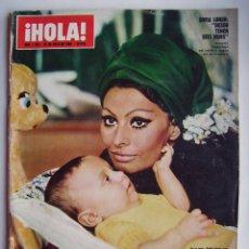 Cinema: SOFÍA LOREN. MARISOL. ELIZABETH TAYLOR. REVISTA HOLA. 1969.. Lote 122963879