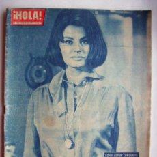 Cine: SOFÍA LOREN. ELIZABERTH TAYLOR. REVISTA HOLA. 1962.. Lote 122964759