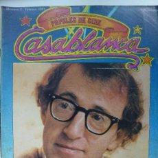 Cinema: REVISTA CASABLANCA. Nº 2. FEBRERO 1981. EXCLUSIVA WOODY ALLEN.. Lote 123504607