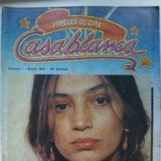 Cine: REVISTA CASABLANCA. Nº 1. ENERO 1981. ÁNGELA MOLINA.. Lote 123506931