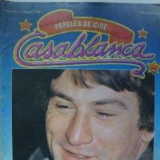 Cinéma: REVISTA CASABLANCA. Nº 3. MARZO 1981. ROBERT DE NIRO.. Lote 123507175